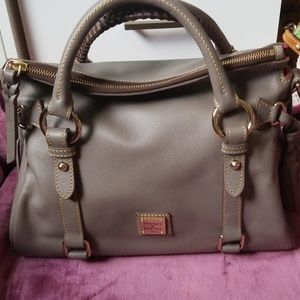 Dooney and Bourke small calf satchel mushroom